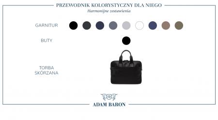 Do czego pasuje czarna, męska torba skórzana?