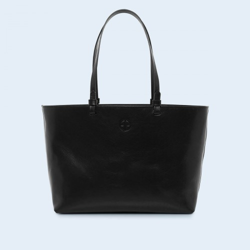 Skórzana torebka - Aware shopper bag black