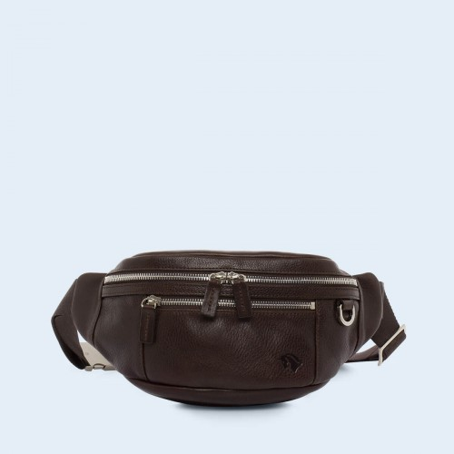 Skórzana nerka - Verity waist bag brown