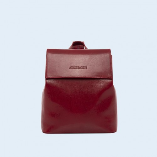Skórzany plecak - Aware backpack cherry red