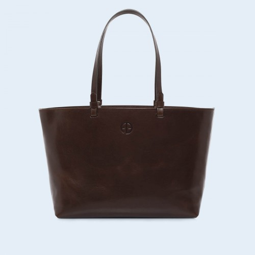 Skórzana torebka - Aware shopper bag chestnut brown