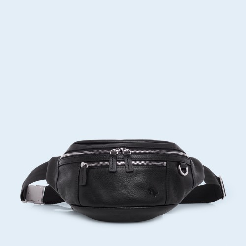 Skórzana nerka - Verity waist bag black