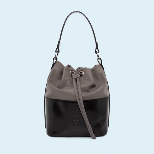 5c5965899953a Torebka damska worek - Verity Bucket bag black grey