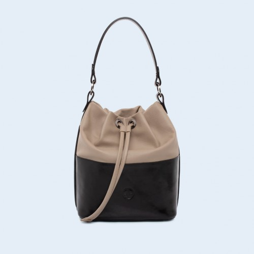 Torebka damska worek - Verity Bucket bag black/earthy