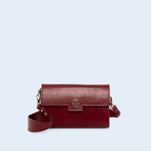 Skórzana torebka - Verity mini crossbody cherry red