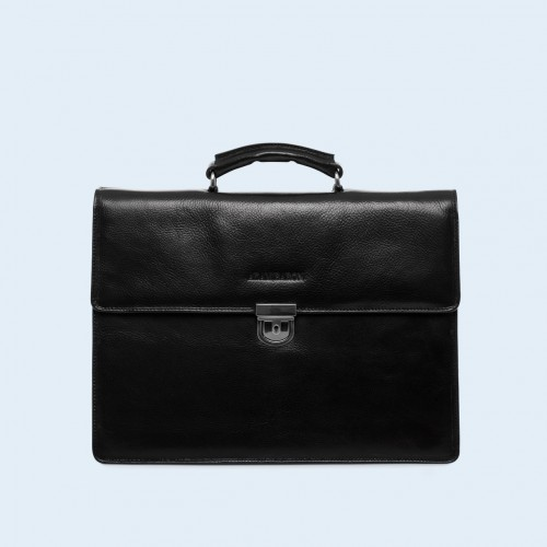 Skórzana teczka biznesowa - Aware Executive briefcase black