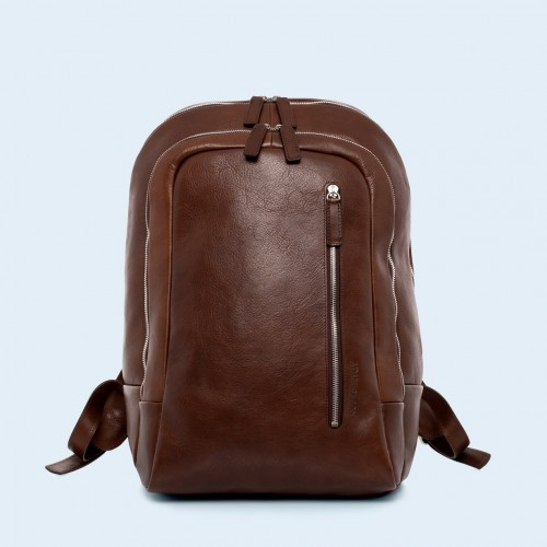 Skórzany plecak - Verity laptop backpack brown