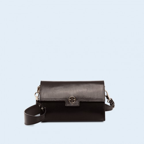 Skórzana torebka - Verity mini crossbody black