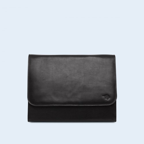 Skórzana teczka na laptopa - Verity laptop bag black
