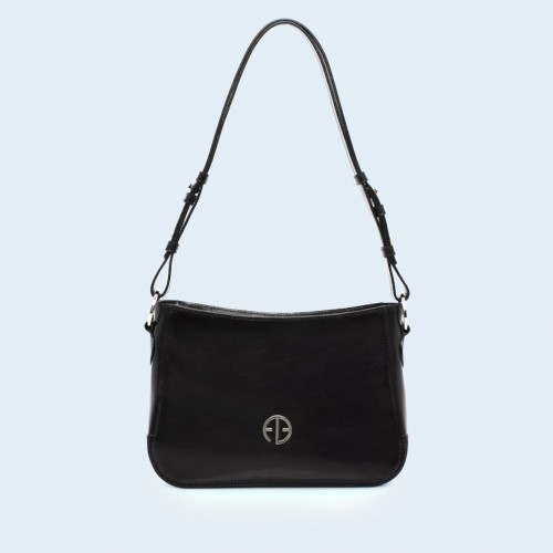 Skórzana torebka na ramię - Aware shoulder bag black