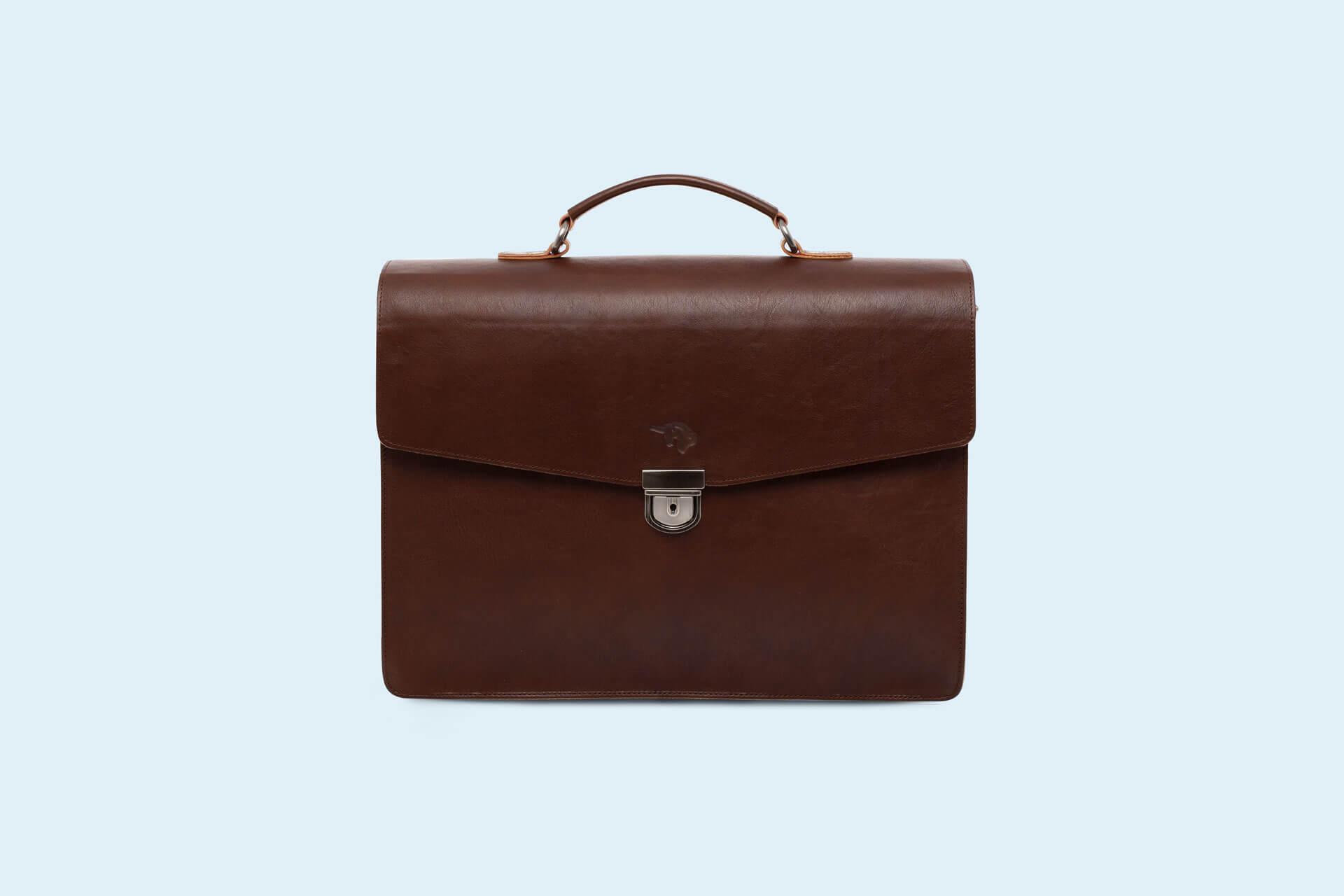 26a1e4a397ca Skórzana teczka biznesowa - SLOW Business brown red