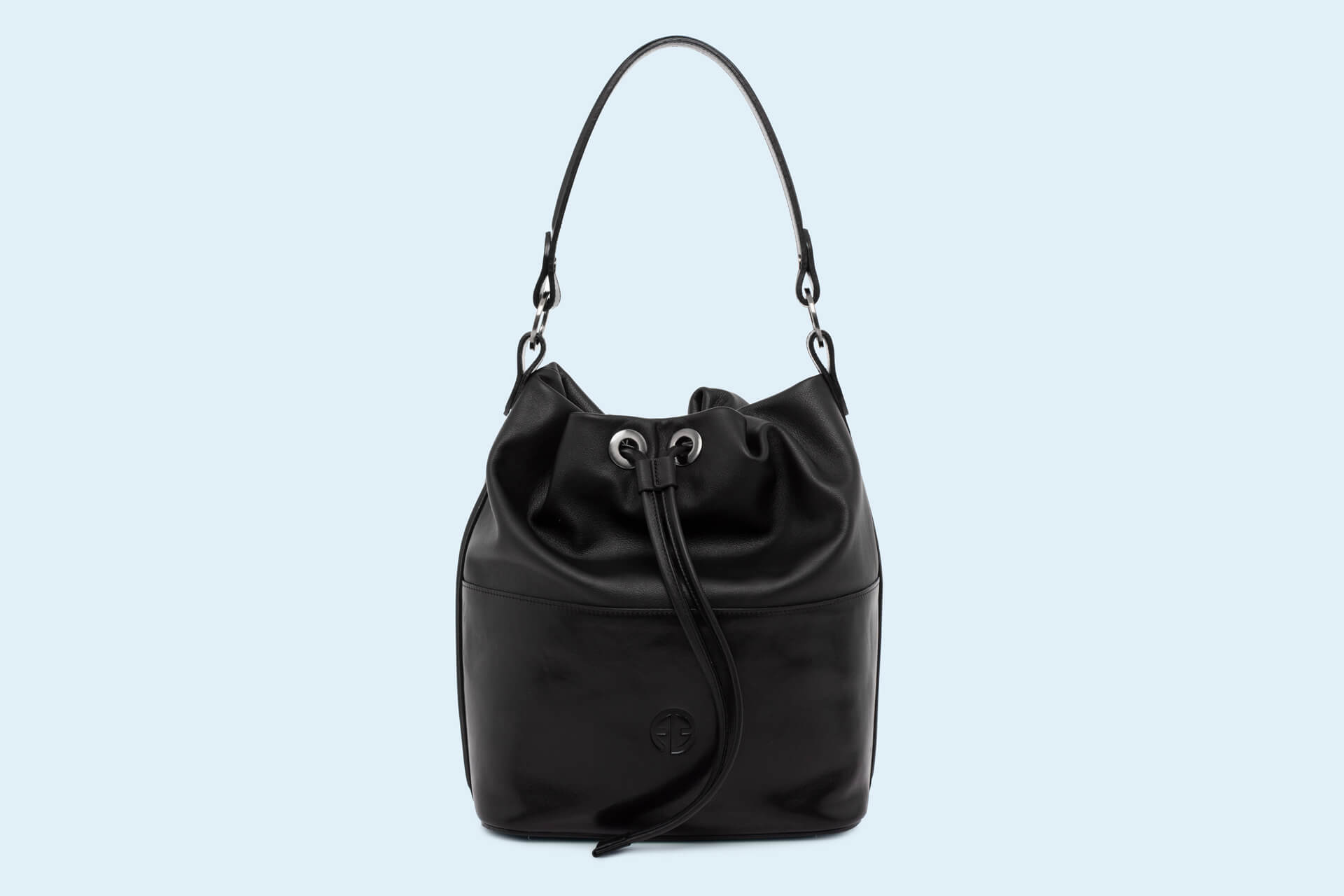 1e1c96915082f Torebka damska worek - Verity Bucket bag black/black   ADAM BARON