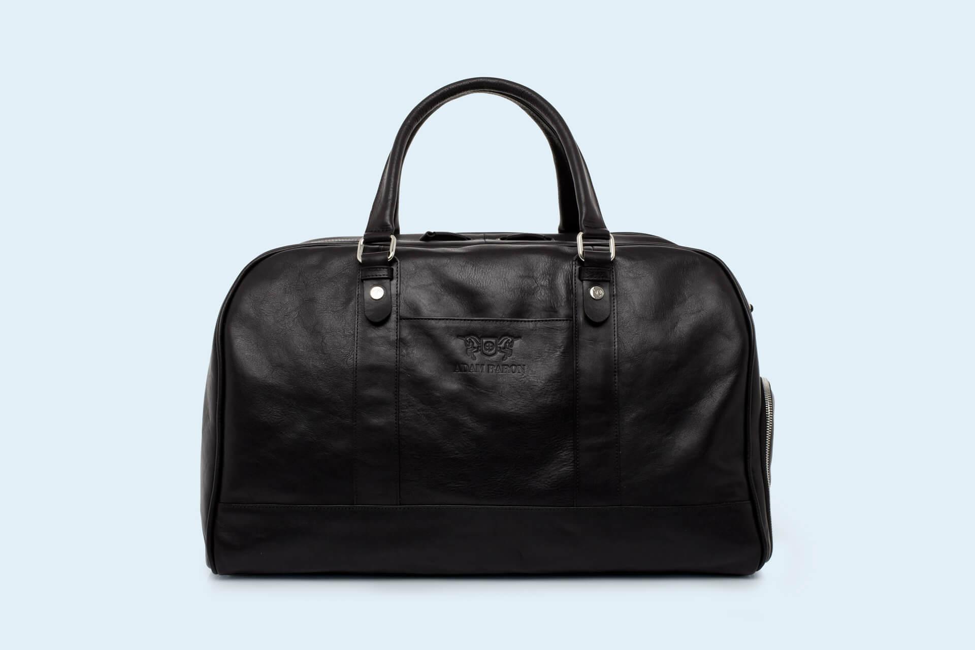a5bbbb577e6b8 Skórzana torba podróżna - Verity Weekend black   ADAM BARON