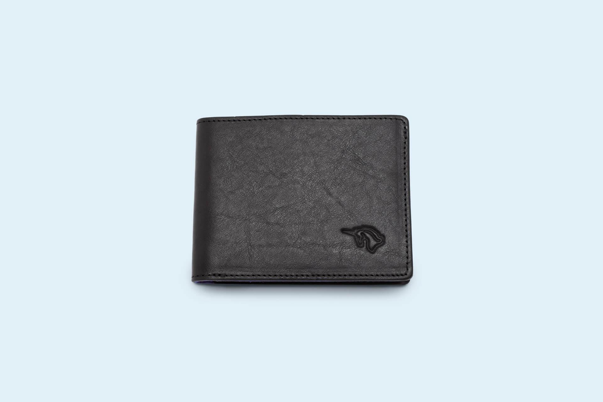 d1d7b446b83ee Skórzany portfel męski - SLOW Slim Wallet black sapphire