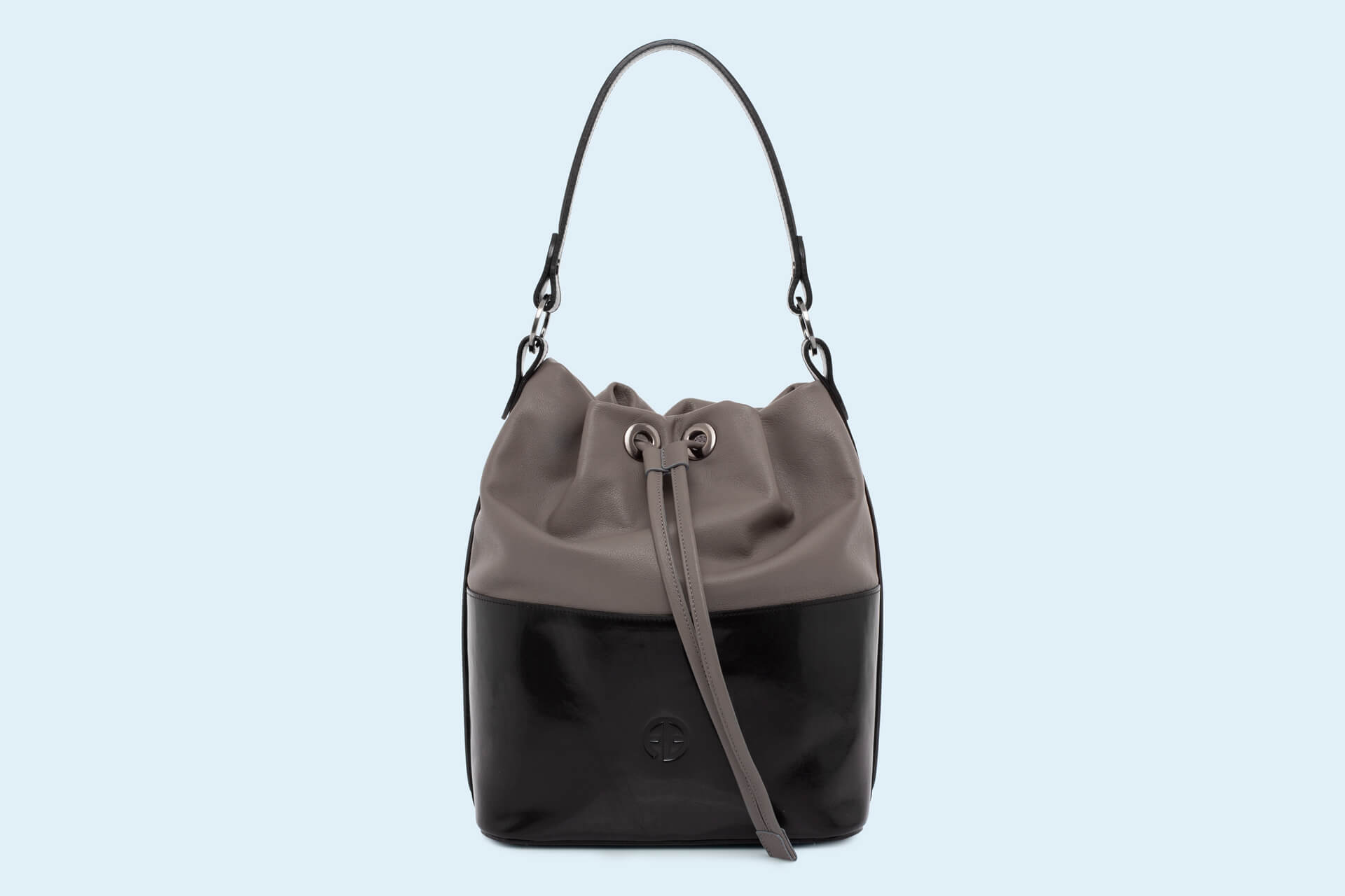 b0b9f5abdd318 Torebka damska worek - Verity Bucket bag black/grey | ADAM BARON