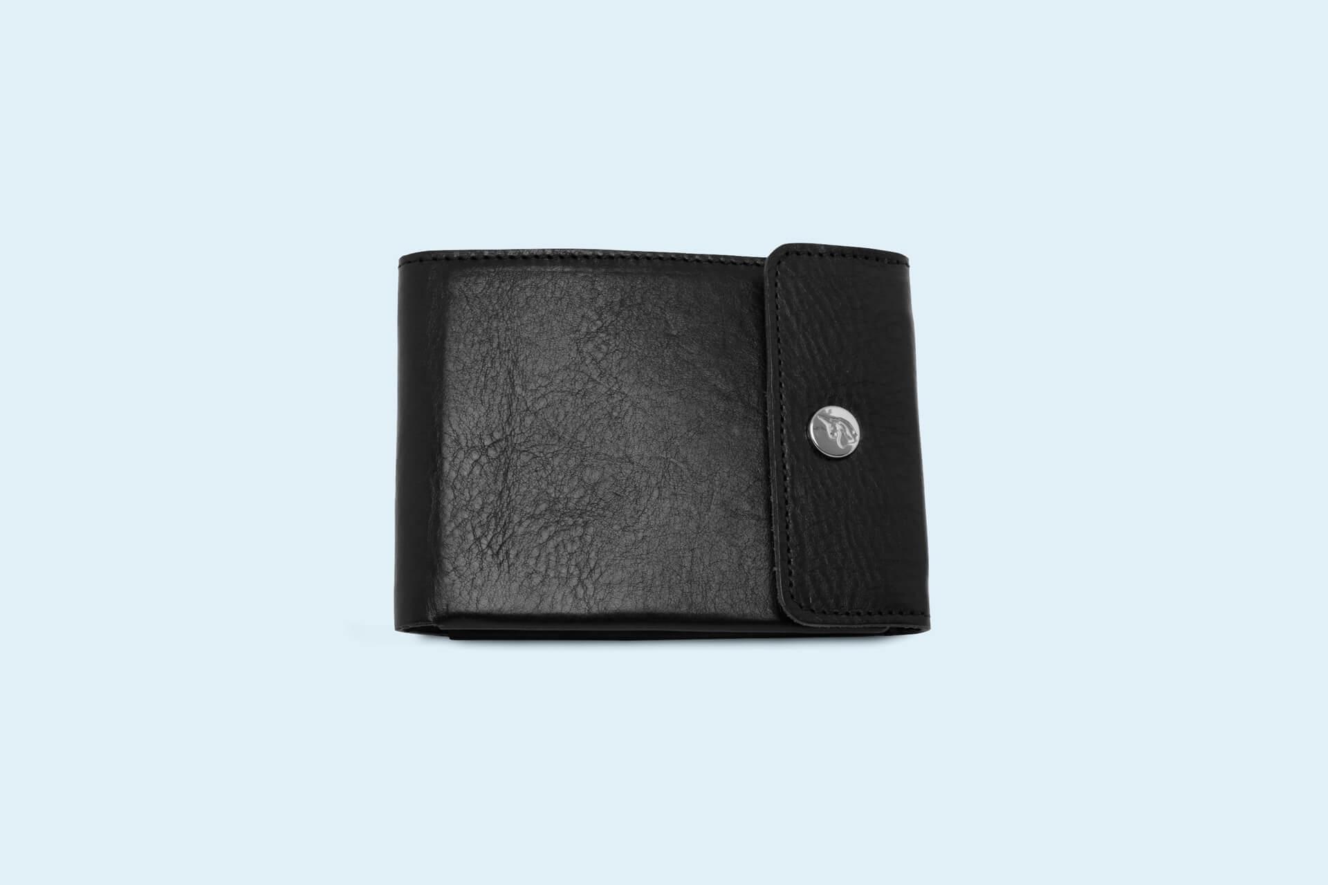 93ebdc6ee5b Skórzany portfel męski - SLOW Coin Wallet black/red