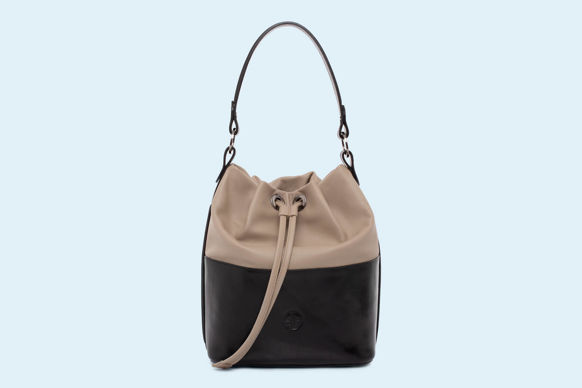 21efbe482676b Torebka damska worek - Verity Bucket bag black earthy